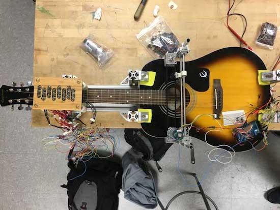 This guitar-playing robot performs American folk music 3