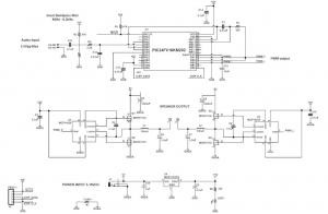Class D Audio Amplifier Using PIC24FV16KM202
