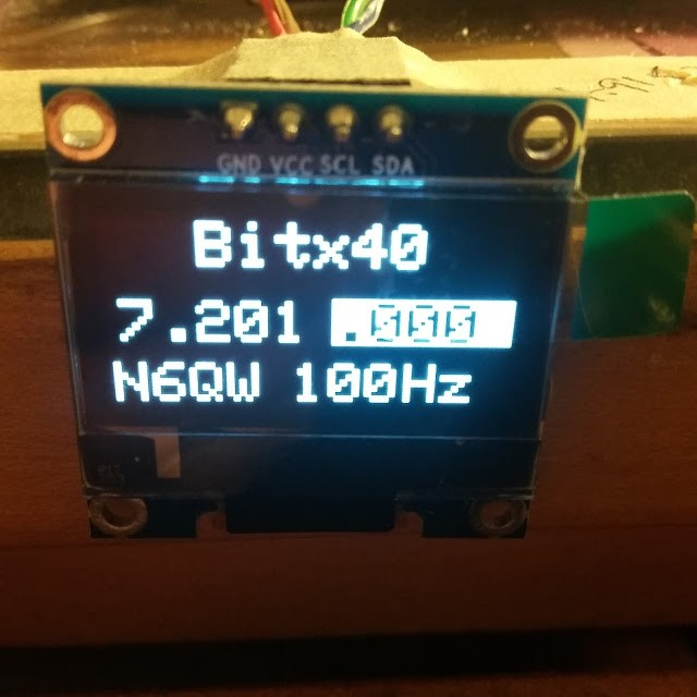 Back to Bitx40 and OLED Displays 3
