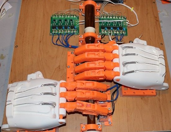 Watch an Arduino Mega-based robot play the bagpipes