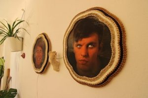 Scare away unwanted guests with an eye-moving portrait