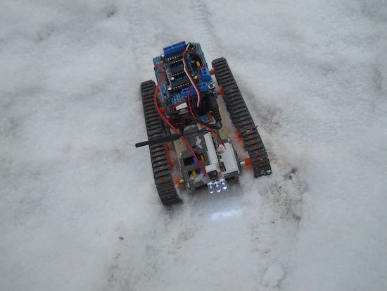 Control a tracked robot with your mind (or joystick)