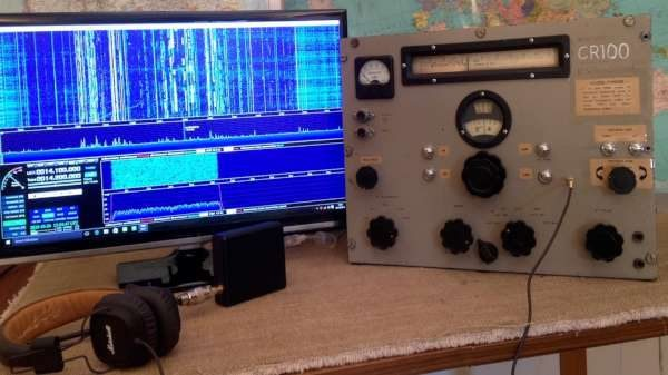 SDR radio breathes life into a 75 year old Marconi CR100