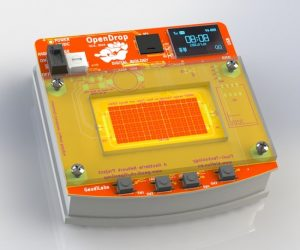 8-bit Frogger game on a digital microfluidics device