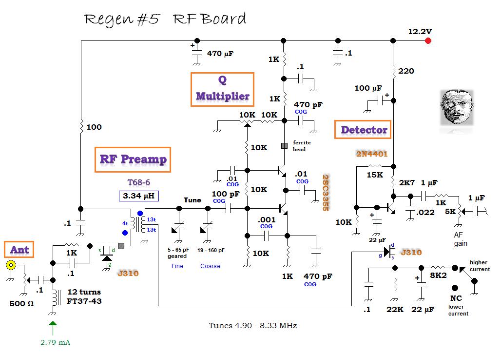 Regen #5 RF Board Schematic