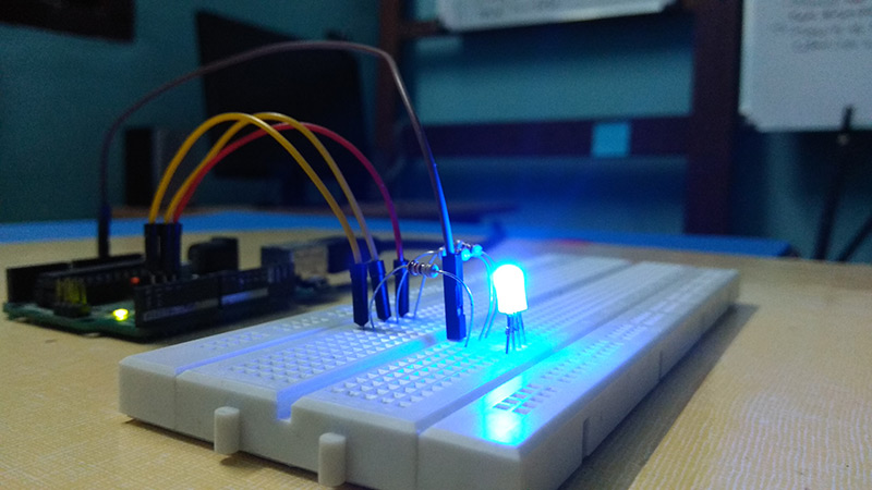 Interfacing RGB LED with Arduino