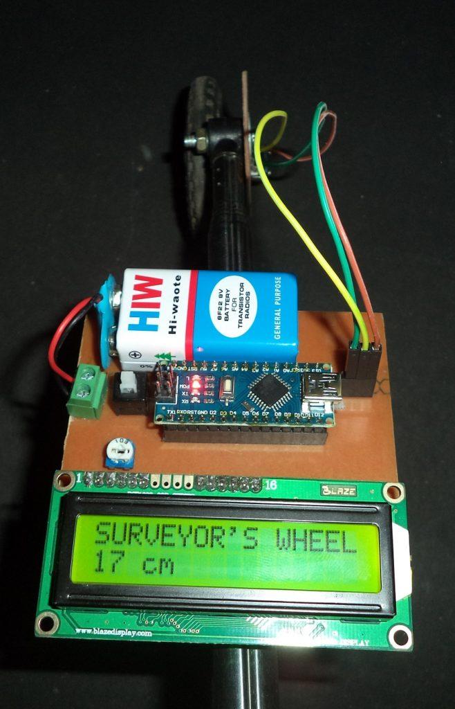DIY: Measuring Wheel/Surveyor's Wheel Using Arduino & Rotary Encoder
