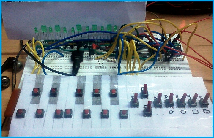 DIY Musical Keyboard Using ATMEGA8 with Tune Record, Save & Playback Options