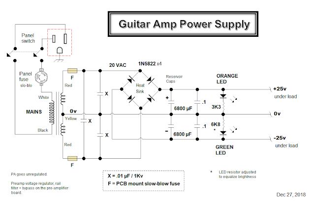 Clean Jazz Guitar Amp Builder Notes — Part 1:  DC Power Supply 14