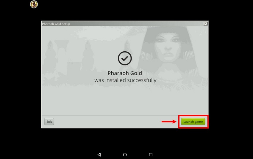 How to play Pharaoh and Cleopatra PC game on Android Devices via ExaGear Windows Emulator - launch the game