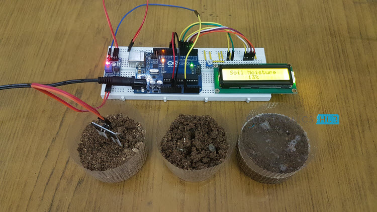 Interfacing Soil Moisture Sensor with Arduino Sensor Image 1