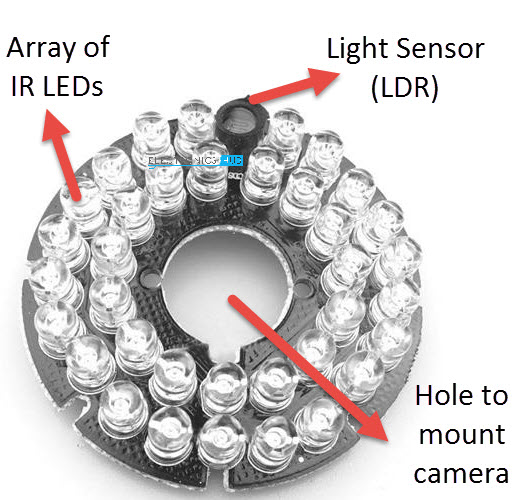 Simple IR Illuminator Infrared Illuminator Array