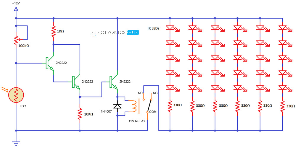 Simple IR Illuminator Circuit