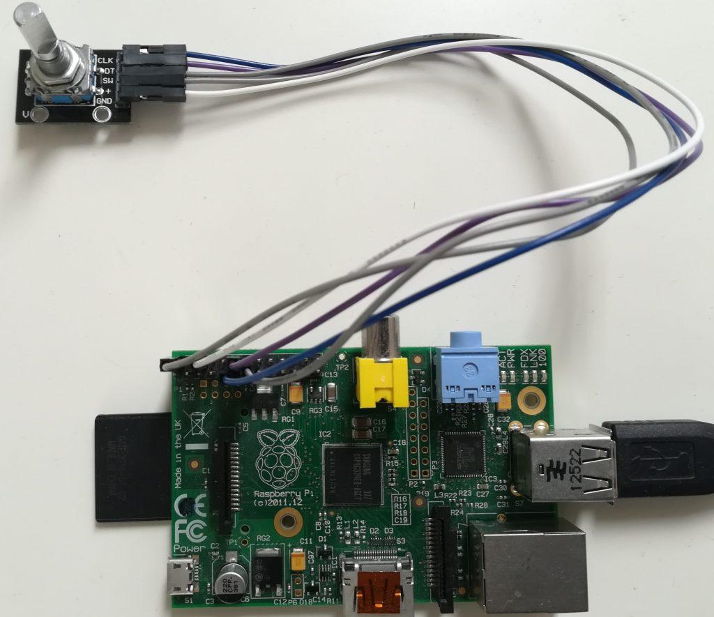 Rotary encoder with Raspberry Pi